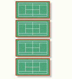 三ツ峠グリーンセンターのふっとさるテニスコート4面
